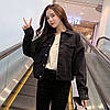 Куртка жіноча джинсова коротка чорна Girl #76 S, фото 4