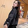 Куртка жіноча джинсова коротка чорна Girl #76 S, фото 5