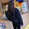 Куртка жіноча джинсова коротка чорна Girl #76 S, фото 6