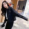 Куртка жіноча джинсова коротка чорна Girl #76 S, фото 8