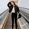 Куртка жіноча джинсова коротка чорна Girl #76 S, фото 9