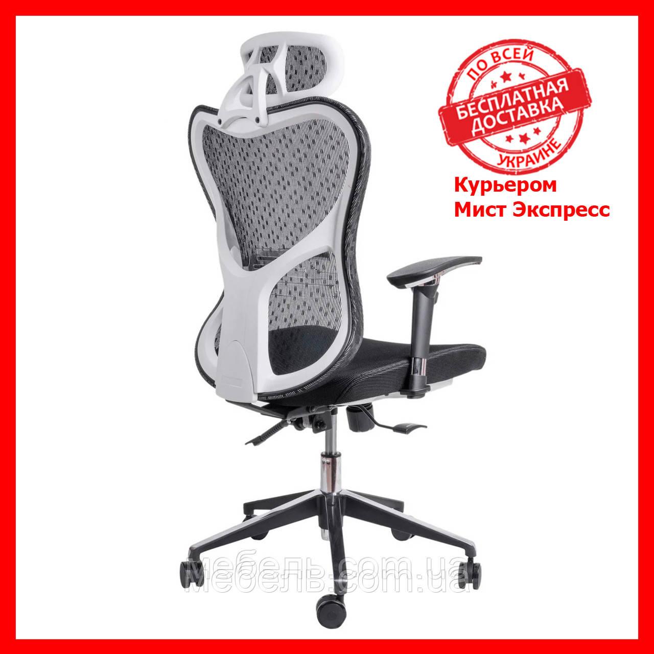 Офисный стул из сетки Barsky Fly-03 Butterfly White/Black