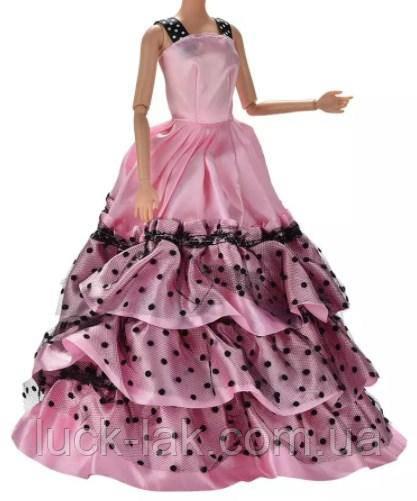 Платье в горошек для куклы Барби