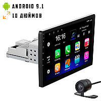 Автомагнитола 1DIN 8227 ANDROID 9.1 с экраном 10 дюймов USB BT GPS навигация Wi-fi магнитола магнитофон, фото 1