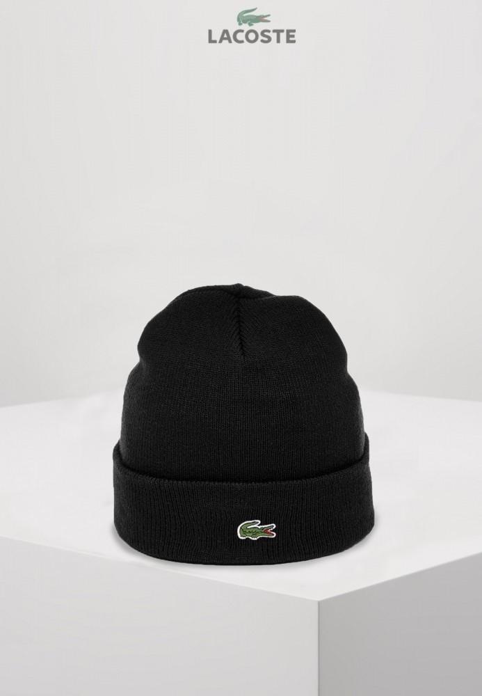 Брендовий шапка Lacoste 21906 чорна
