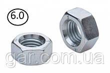 Гайки шестигранні М6 DIN 934, ГОСТ 5915-70 ГОСТ 5927-70 клас міцності 5.0, 6.0