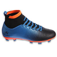Распродажа! Бутсы футбольные с носком мужские Pro Action синие (СПО PRO-1000-25) 41 размер, стелька 26,5 см
