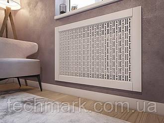 Декоративная решетка экран (фасад) на батарею отопления R49-F