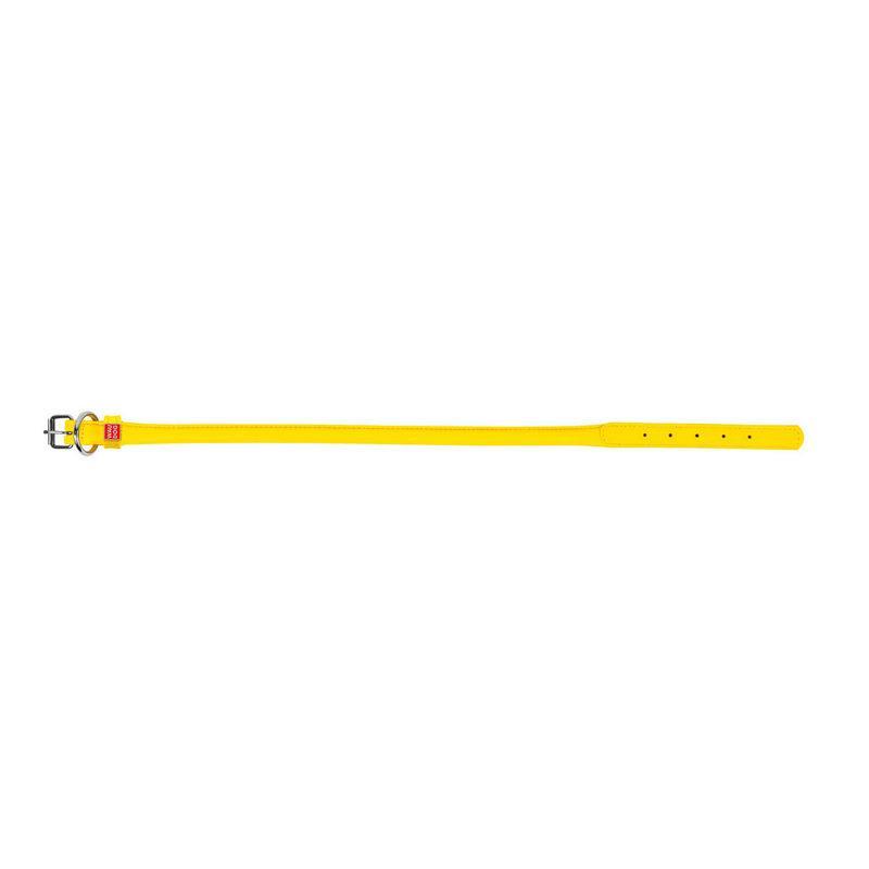 Нашийник круглий WAUDOG Glamour шкіра жовтий 35078 (2035078000001)