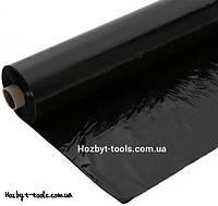 Плёнка чёрная, 200мкм, ширина-3м. полиэтиленовая для мульчирования, строительства (стяжка)