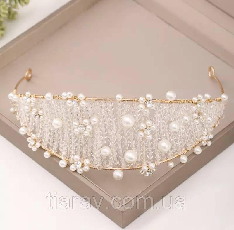Тіара модна, ободок на голову, діадема, Синтія, прикраса для волосся