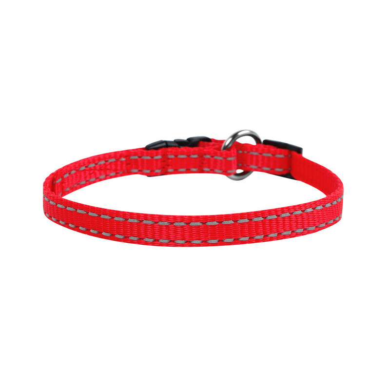 Нашийник одинарний DOG Extreme нейлон червоний регульована довжина 42843 (4820082494278)