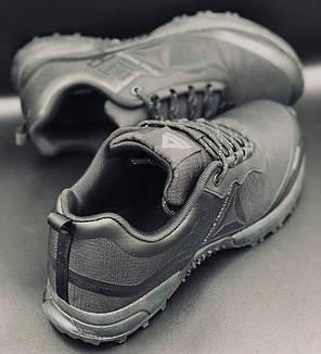 """Мужские кроссовки демисезонные """"Reebok WATERPROOF"""" - полностью черные (41-46), фото 2"""
