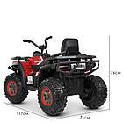 Детский одноместный электромобиль квадроцикл Bambi M 4081EBLR-3-2(SP) черно-красный с пультом управления **, фото 3