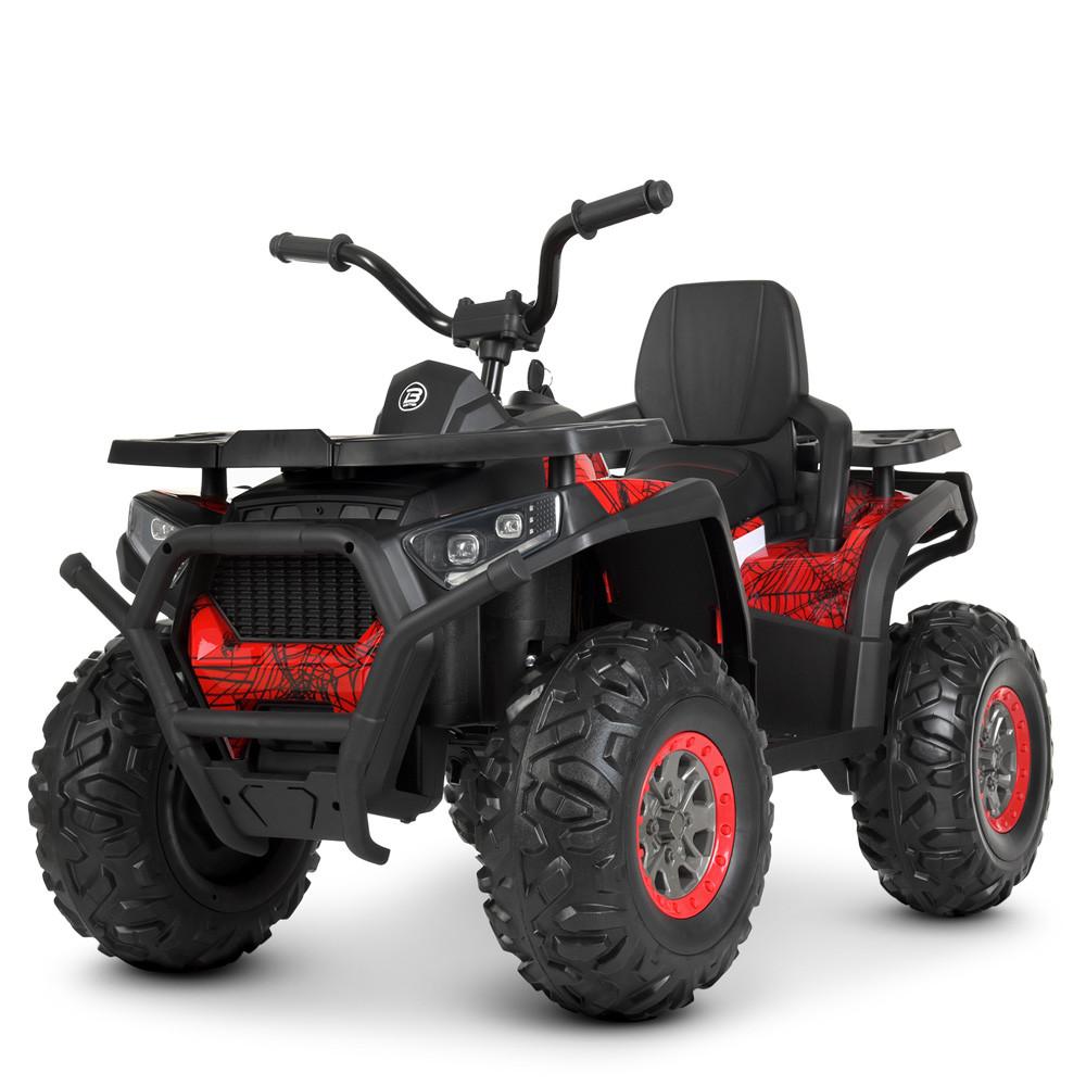 Детский одноместный электромобиль квадроцикл Bambi M 4081EBLR-3-2(SP) черно-красный с пультом управления **