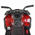 Детский одноместный электромобиль квадроцикл Bambi M 4081EBLR-3-2(SP) черно-красный с пультом управления **, фото 6