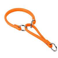 Ошейник-удавка WAUDOG Glamour кожа оранжевый 75474 (2075474000007)