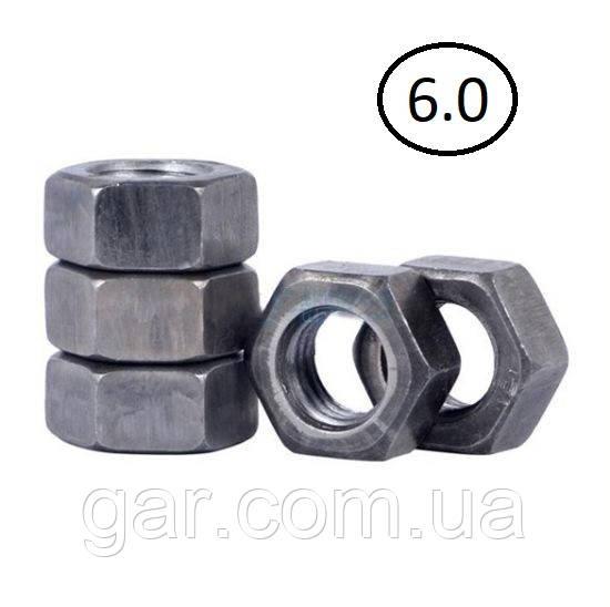 Гайки шестигранні М22 DIN 934, ГОСТ 5915-70 ГОСТ 5927-70 клас міцності 5.0, 6.0