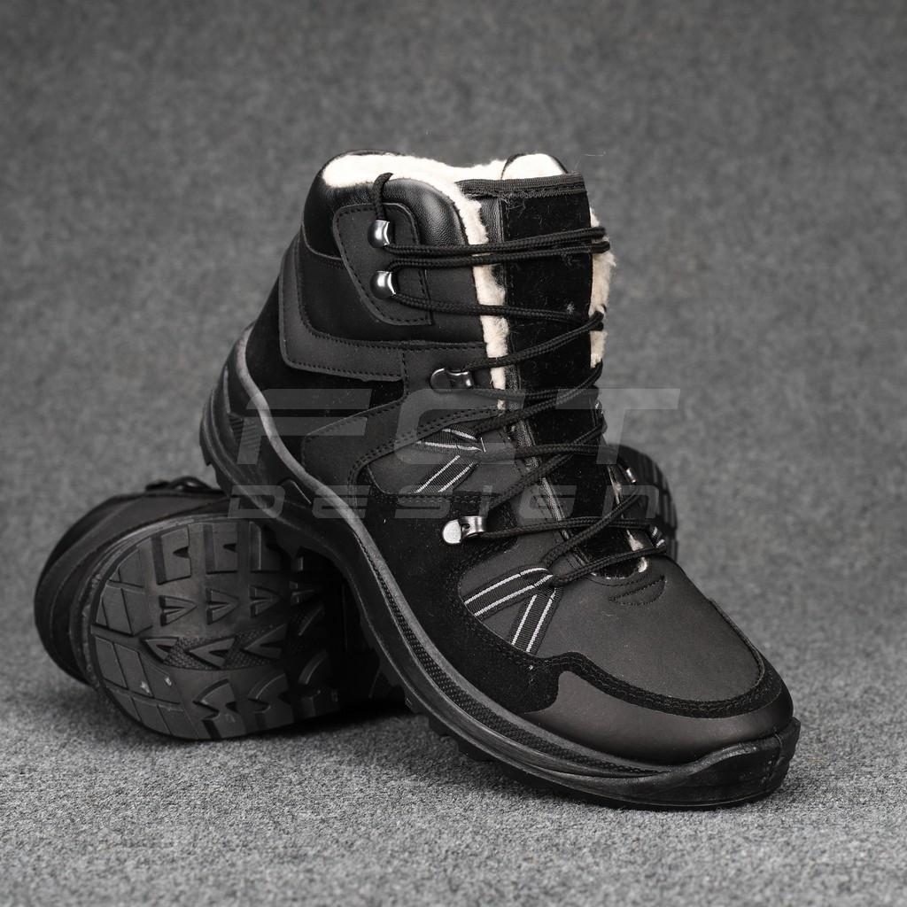 Ботинки зимние G8 набивной мех черные