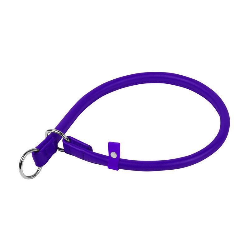 Ошейник-удавка рывковый WAUDOG Glamour кожа фиолетовый 75399 (2075399000007)