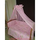 Акция! Постельное бельё в детскую кроватку Мишки маленькие 8 эл розовое, фото 2