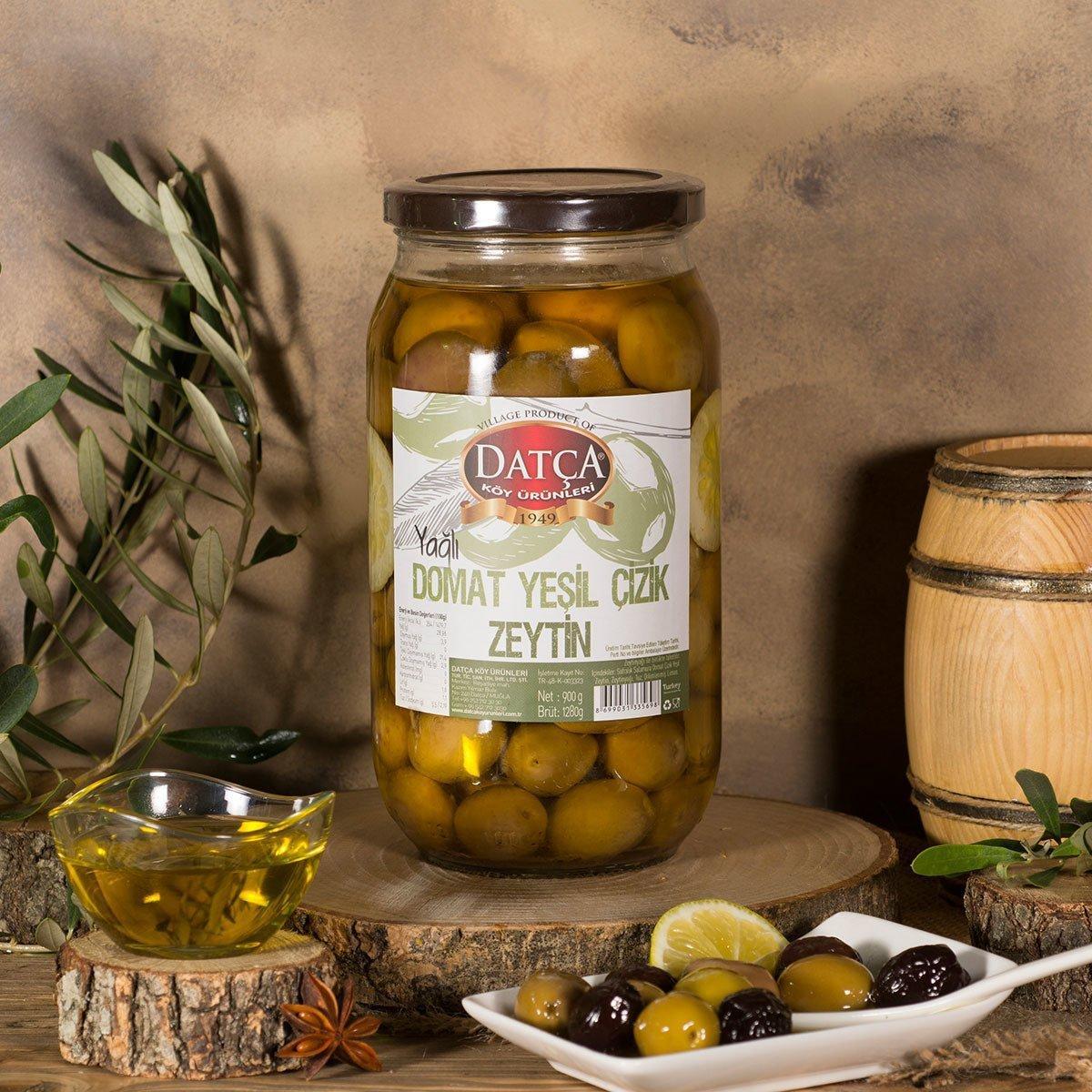 Оливки зеленые Domat Datca в масле 900 г