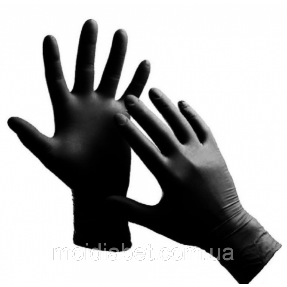 Защитные перчатки из нитрила  Размер-М 1 шт.