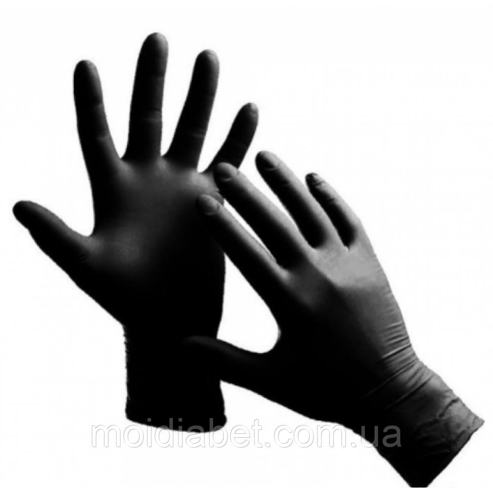 Защитные перчатки из нитрила (пара). Размер -М.