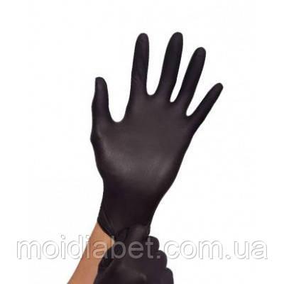 Чёрные нитриловые перчатки (пара). Размер -М.