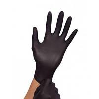 Чёрные нитриловые перчатки Размер - М (100 шт.)