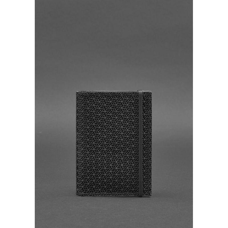 Кожаная обложка для паспорта 2.0 Карбон черная
