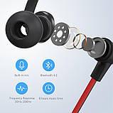 Беспроводные спортивные наушники Mifa S1 Black водозащищенная гарнитура IPX5  Bluetooth 4.2, фото 2