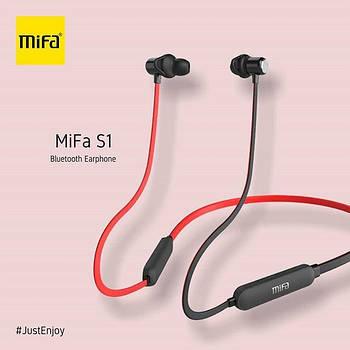 Беспроводные спортивные наушники Mifa S1 Black+Red водозащищенная гарнитура IPX5  Bluetooth 4.2