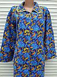 Теплый фланелевый халат 52 размер Бабочки, фото 9