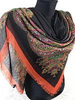 Шерстяной платок большого размера с турецким рисунком