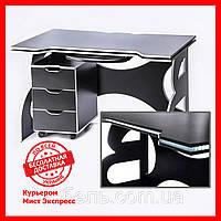 Мебель для работы дома стол с мобильной тумбой Barsky Game white