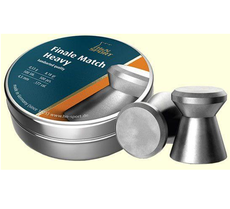 Кулі пневм H&N Finale Match Heavy, 4,5 мм , 0.53 г, 500 шт/уп, фото 2
