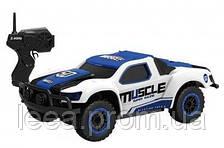 Машинка HB Toys Muscle радиоуправляемая, масштаб 1к43 полноприводная синяя SKL17-139559