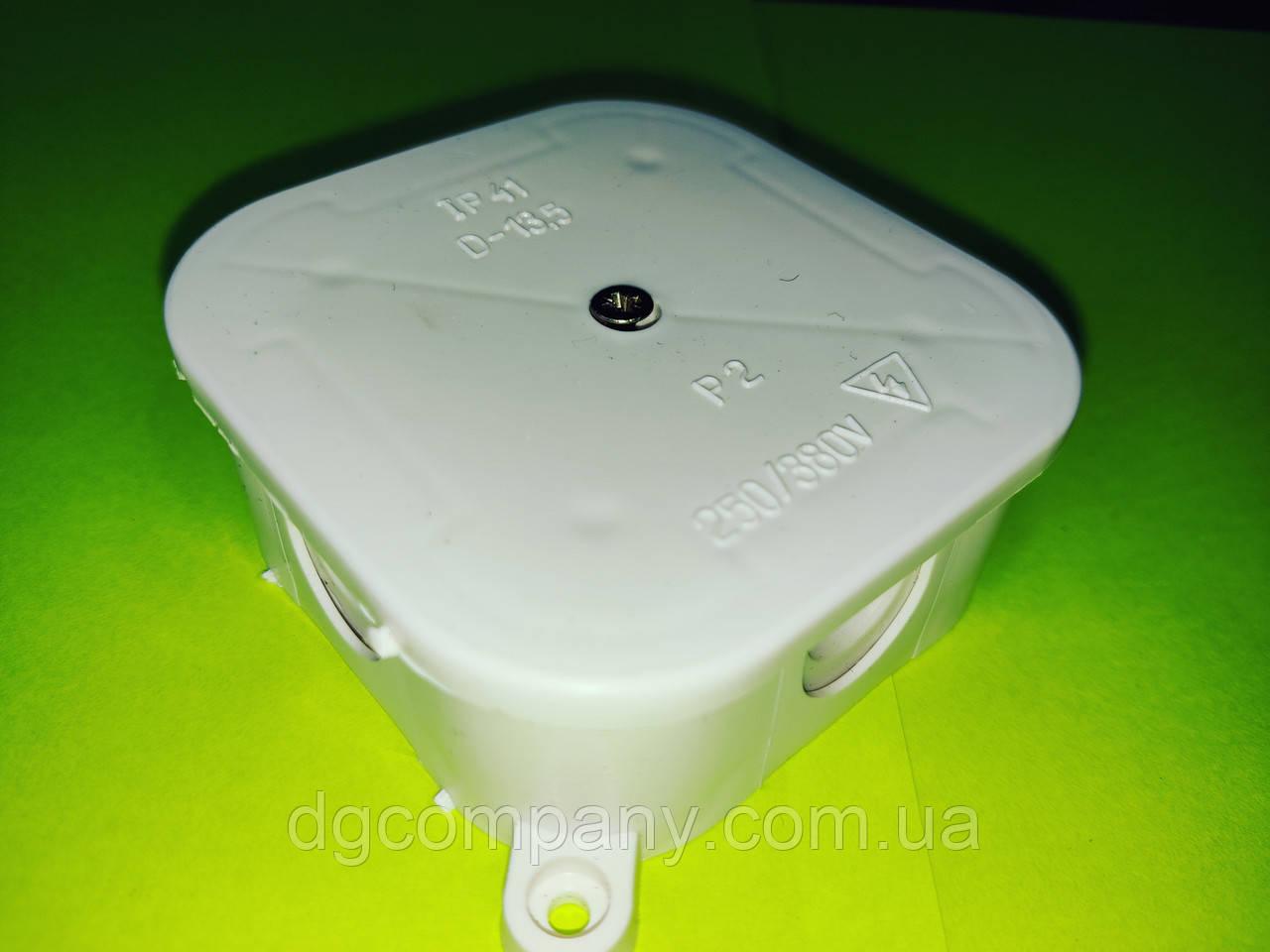 Коробка распределительная Р2 герметичная 80х80х35 для наружного монтажа,квадратная