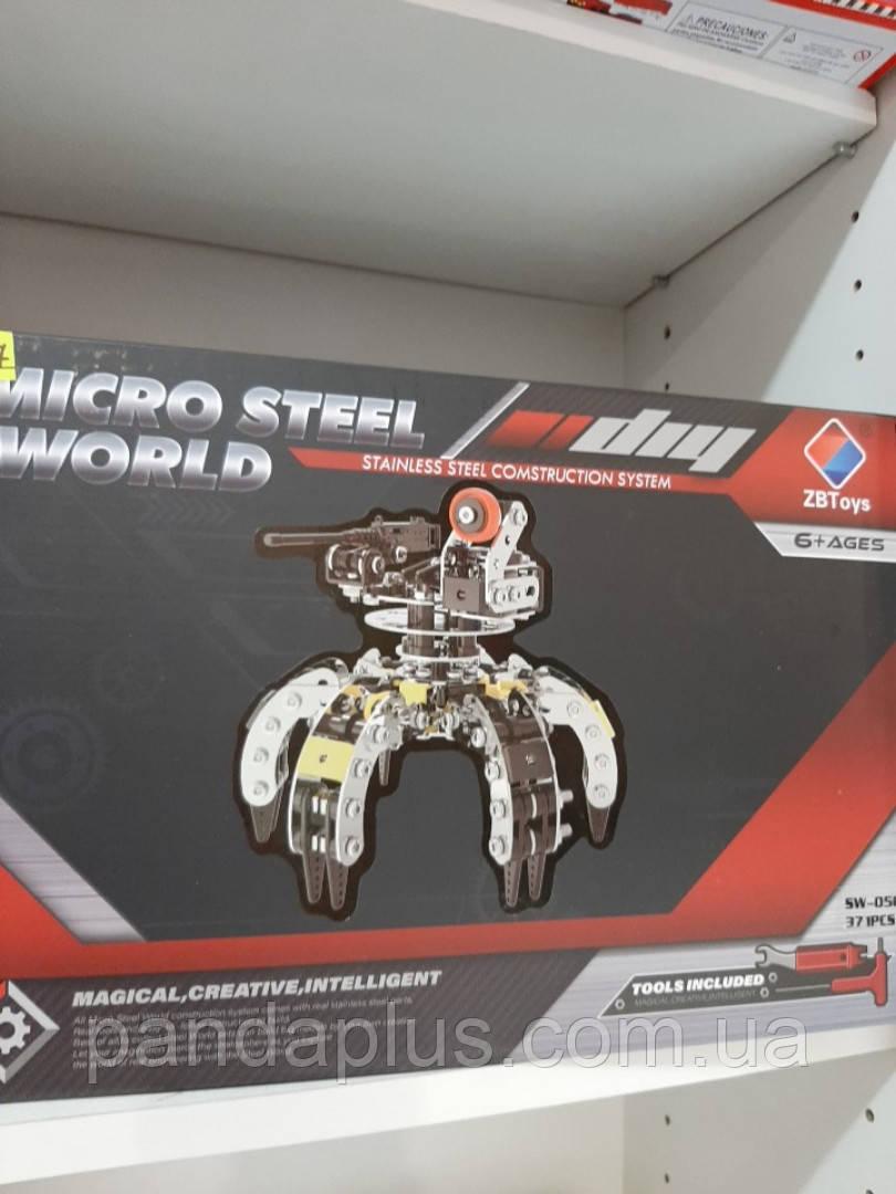 Конструктор  металл,робот-паук, отвертка,371дет