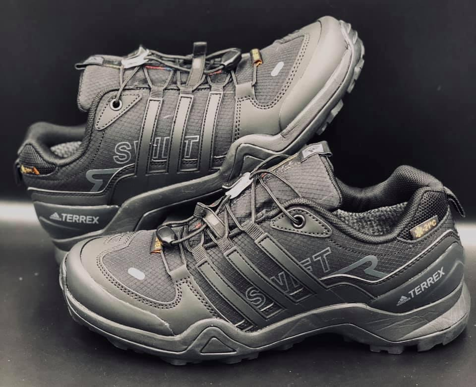 """Мужские зимние кроссовки """"Termo Adidas TERREX"""" - черные, WATERPROOF (41-46)"""