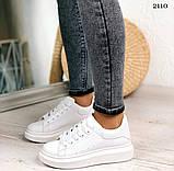 Только 38 р! Стильные женские кроссовки белые эко-кожа весна / осень, фото 3
