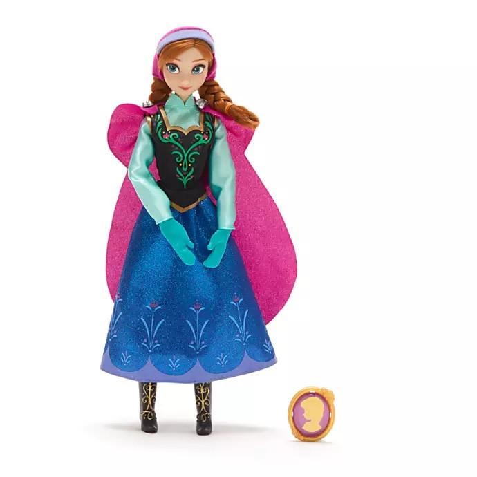 Кукла Анна с драгоценным кулоном - Anna принцесса Дисней куклы Disney