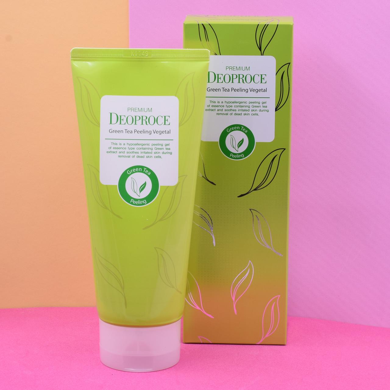 Пилинг-скатка Deoproce с экстрактом зеленого чая Premium Green Tea Peeling Vegetal