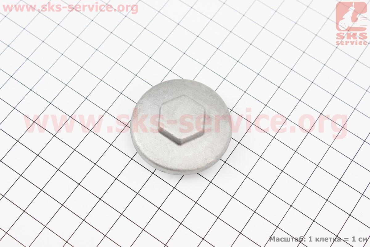 Гайка (заглушка) головки циліндра де клапан, метал на мопед Delta