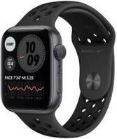 Apple Watch 6 Nike Koperta 44mm Gwiezdna Szarość z Aluminium z Paskiem sportowym Czarnym (MG173WBA)