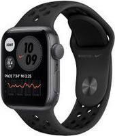Apple Watch SE Nike Koperta 40mm Gwiezdna Szarość z Aluminium z Paskiem sportowym Czarnym (MYYF2WBA)