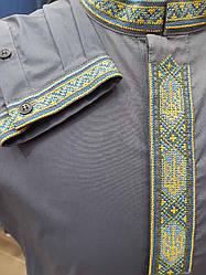 Рубашка-вышиванка мужская Petro Soroka  МТ-2387-07 светло-синяя