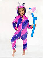 Детская пижама кигуруми единорог Галактика 110-140 рост (полномерка)