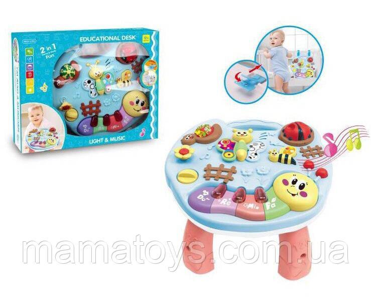 Детский игровой центр 3903 столик музыкальный 2 в 1 для малышей, на батарейках
